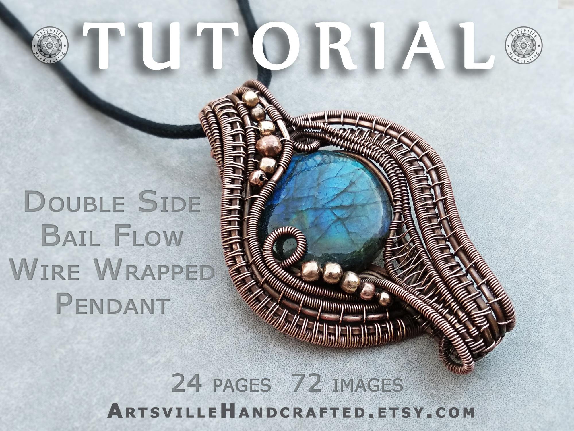 PDF file only Wire Jewelry Pendant eBook  Instructions Sunburst Pendant 1 TUTORIAL